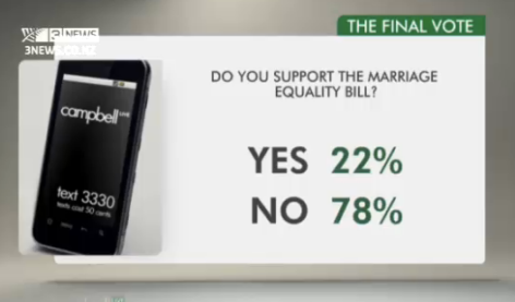 NZ support for gay marriage 2013